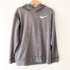 NIKE Dry-Fit Gray Lightweight Hoodie Size S